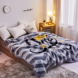丹蘭家紡 雙層加厚拉舍爾毛毯冬季保暖毛毯被 星星之戀
