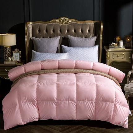 心悦家纺 全棉大提花羽绒被 粉色