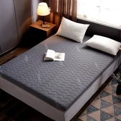 乐事床垫 2019新款乳胶硬质棉床垫 灰色波浪纹