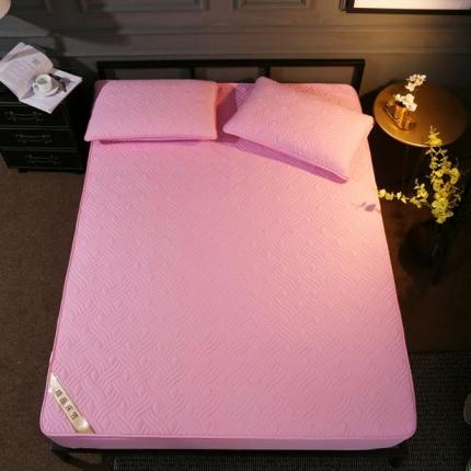 阿曼达 全棉加厚床笠 粉色