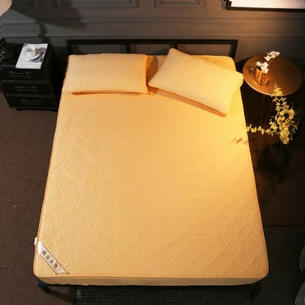 阿曼达 全棉加厚床笠 黄驼