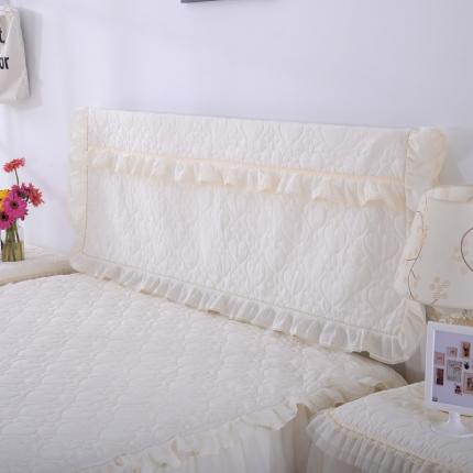 浩情国际 韩版蕾丝床头罩-开心果系列米色