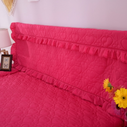 浩情国际 韩版蕾丝床头罩-开心果系列玫红色