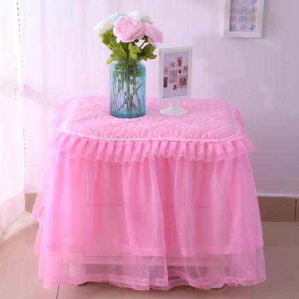 浩情国际 韩版蕾丝床头柜子罩系列粉色一只