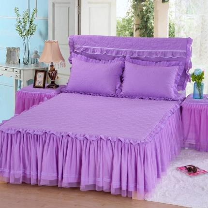 浩情国际 茉莉公主单品床裙紫色