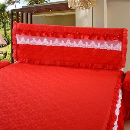 浩情国际 8月4号升级版玫瑰款床头罩系列 红