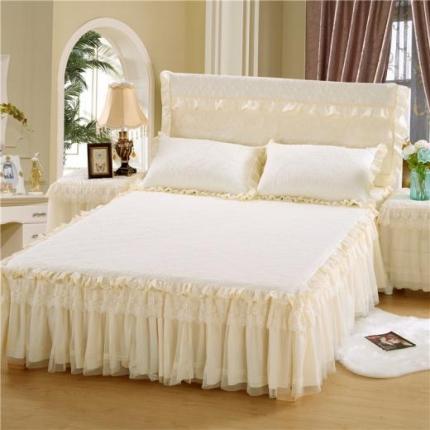 浩情国际 8月4号升级版玫瑰款床裙系列 米