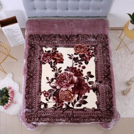 (总)浩情国际 5D特加厚雕花双层云毯