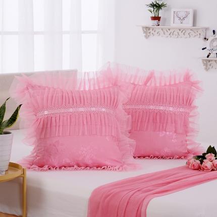 (总)浩情国际 全棉蕾丝单品婚庆方垫、长枕系列(不含芯)