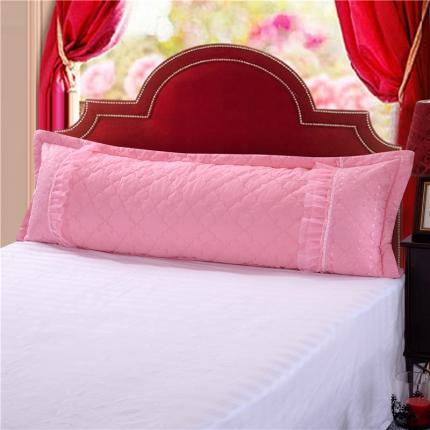 浩情国际 全棉蕾丝单品婚庆长枕系列(不含芯)粉色