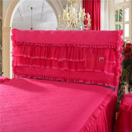浩情国际 2019-5月新品 温馨家园系列床头罩 玫红