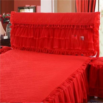 浩情国际 2019-5月新品 温馨家园系列床头罩 红