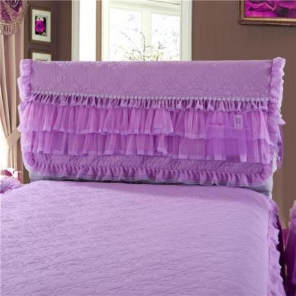 浩情国际 2019-5月新品 温馨家园系列床头罩 紫