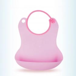 (总)米卡宝贝 婴幼儿防水围兜硅胶