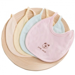 米卡寶貝 嬰幼兒彩棉圍嘴口水巾5條裝