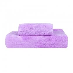 贝拉萌 2019新款珊瑚绒毛巾浴巾 紫色(毛巾+浴巾)