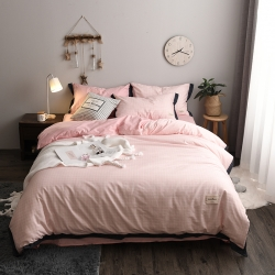 静家居 2018北欧织带条格款系列套件床单款 少女情怀