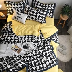 靜家居 2019新款北歐織帶款套件北歐風格 簡居四件套