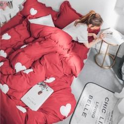 (总)杰米家居 2018色织水洗棉甜心系列四件套