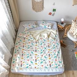 奕晨2019多功能婴童儿童盖毯幼儿园单被套毛毯毯子 飞船