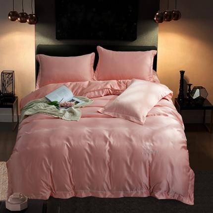 (总)意尚风情 18年新款·绣花水洗真丝四件套床单款