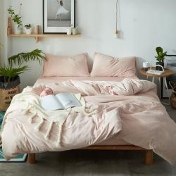 (總)棉堡家紡 無印純色天鵝絨四件套床單款