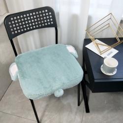 希諾2019新款兔兔絨慢回彈記憶棉懶人坐墊卡通造型茶綠色小象