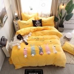 (总)K2家纺 萌宠之家系列宝宝绒法兰绒四件套