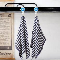学生派 纯棉毛巾  蓝色条纹