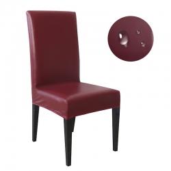 (总)福巢家纺 2019防水防油PU皮弹力椅套家用通用餐椅套