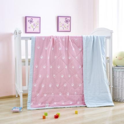 美真宝贝 双层纱儿童空调被幼儿园纱布夏凉被 草莓