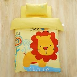 美真宝贝 幼儿园三件套含芯大版活性印花儿童六件套 狮子王