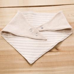 麥吻 彩棉嬰幼兒三角巾 口水巾 AB版 雙層