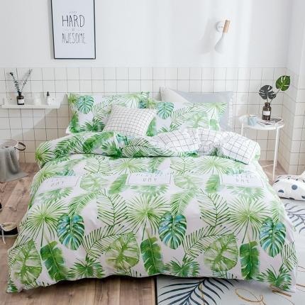 我心家纺 2018ins风套件七月新花系列床单款 巴黎春天