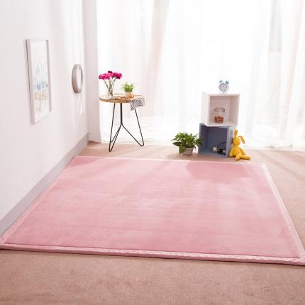 柠萌家居 地垫地毯飘窗垫宝宝爬行垫纯色地垫 粉色