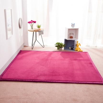 柠萌家居 地垫地毯飘窗垫宝宝爬行垫纯色地垫 酱红色