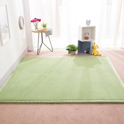 柠萌家居 地垫地毯飘窗垫宝宝爬行垫纯色地垫 绿色