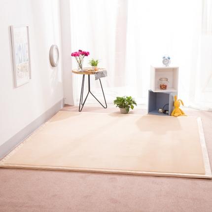 柠萌家居 地垫地毯飘窗垫宝宝爬行垫纯色地垫 米黄色