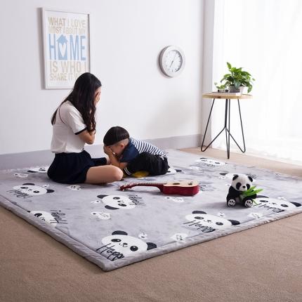 柠萌家居 地垫地毯飘窗垫宝宝爬行垫印花地垫 熊猫
