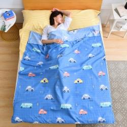 樸卉家紡 2019新款植物羊絨磨毛睡袋旅行睡袋隔臟睡袋 旅途