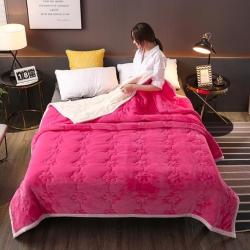 【四季备货】法兰绒毛毯拉舍尔毛毯被子复合毯子床单床盖床裙被套