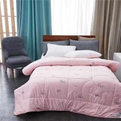 鼎吉贝子 精品全棉羊毛被 粉色