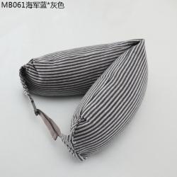 棉本家纺 u型枕 海军蓝-灰色