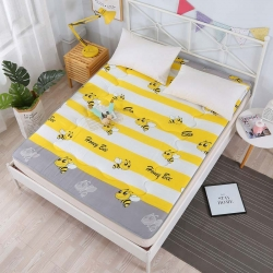 暖季家纺 2019新款磨毛榻榻米印花床垫 小蜜蜂