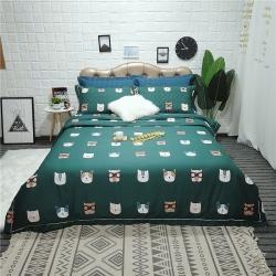 (總)禹辰 60支長絨棉印花絎縫夾棉床蓋式三件套四件套
