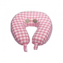 允泰乳膠 2019新款CK記憶棉量子U型枕29*33 粉色