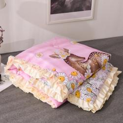 (总)绘萱家纺新品ins小清新韩版花边水洗棉夏被夏凉被空调被