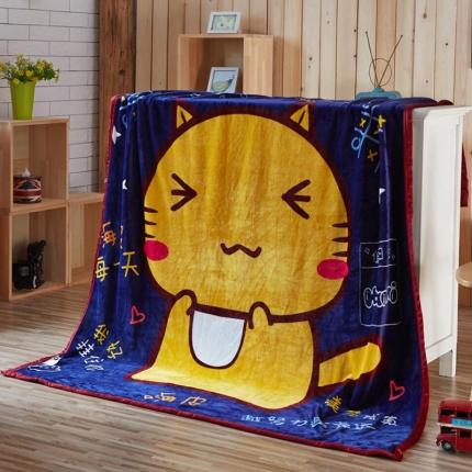荣轩家纺 法莱绒加厚童毯盖毯毛毯珊瑚绒毯 哈咪学霸