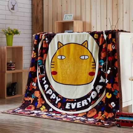 荣轩家纺 法莱绒加厚童毯盖毯毛毯珊瑚绒毯 哈咪世界