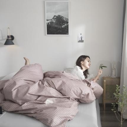 荣轩家纺 全棉纯棉多规格简约工艺单被套 瑞丽格-T